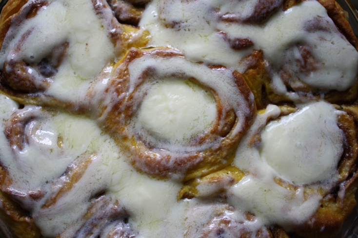 Pumpkin Cinnamon Buns with Cream Cheese Frosting